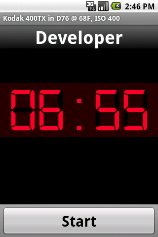Screenshot: Timer Screen